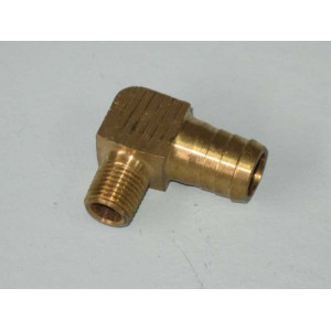 Brass Tank Elbow P6 5/8 Barb - 1/4 BSP