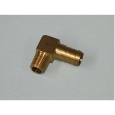 Brass Elbow P6 1/2 Barb - 1/4 BSP Long