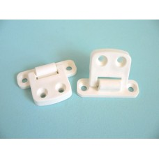 Hinge Nylon White GHP (Pair)