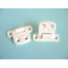 Hinge Nylon White GHP (Pack 20 Pairs)